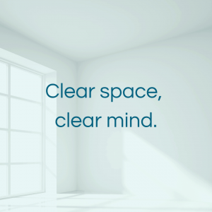 Clear space, clear mind - a more minimalist home.